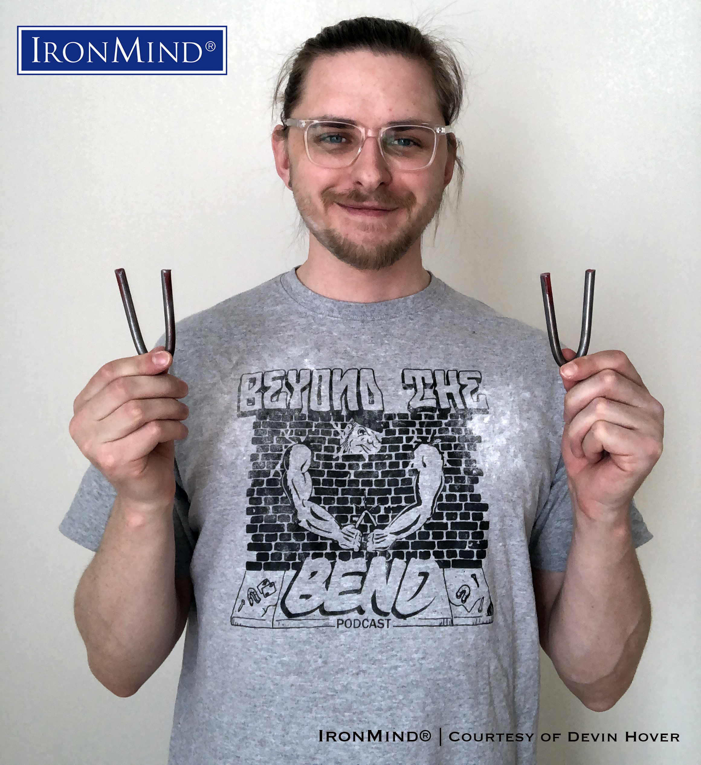 "Third-year medical student Devin Hover has just certified on the IronMind Red Nail, proving his strength as a strength as a steel bender. Devin is 28 years old,6' 2"" tall and weighs 195 lb. IronMind® 