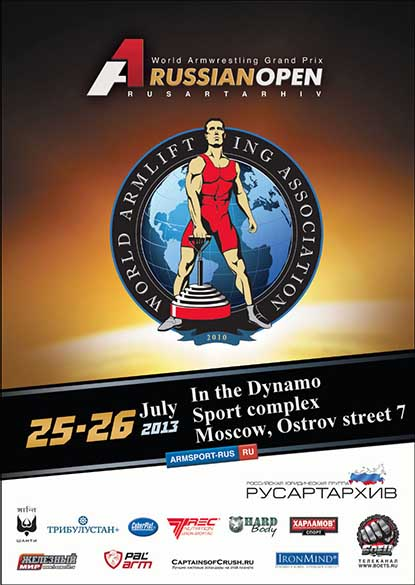 The A1 armwrestling and armlifting competition will be held in Moscow, Russia July 25–26, so whether you are pulling or not, you can compete on the Rolling Thunder and the CoC Silver Bullet.   IronMind® | Artwork courtesy of Russian Armlifting Association.
