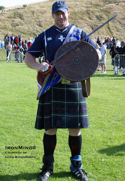 Aaron Neighbour, 2009 International Highland Games Federation Heavy Events world champion, will not be defending his title.  IronMind® | Lynn Richardson photo.