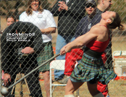 Call her Highland Games World Champion x 2: Adriane Blewitt defended her title this past weekend.  IronMind® | Photo courtesy of Philip Arnold.