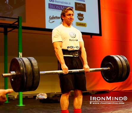 Strongman isn't only for huge me: Andreas Valand won the under 90-kg United Strongmen World Championships over the weekend.  IronMind® | Photo courtesy © www.photobypiia.com