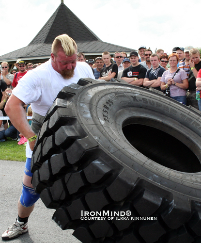 Coached by 2000 World's Strongest Man winner Janne Virtanen, Antti Mourujarvi is the pre-contest favorite for the Finland Strongman Cup finals.  IronMind® | Photo courtesy of Ilkka Kinnunen.