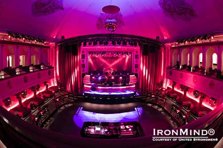 The dramatic Apollo Live club in Helsinki will showcase United Strongmen® competitions in November.  IronMind® | Courtesy of United Strongmen®