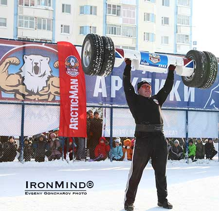 The debut of ArcticMan enjoyed relatively balmy weather in Nadym, Russia: it was about 12 degrees Fahrenheit.  IronMind® | Photo courtesy of Evgeny Goncharev