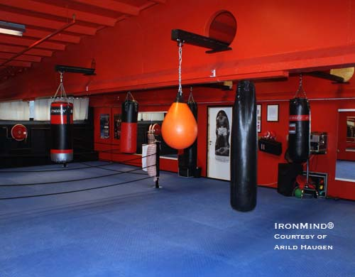 This is Arild Haugen's private boxing gym - quite a setup. IronMind® | Photo courtesy of Arild Haugen.