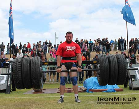 "Ben Simpson has been called ""a rising star in Australian strongman.""  IronMind® 