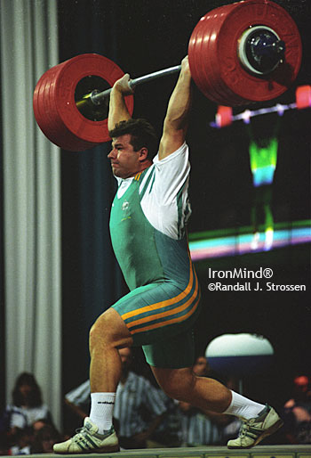 "Stefan Botev nailed this 240-kg clean and jerk on his first attempt at the 1996 Olympics, on his way to the bronze medal. At the 1995 World Weightlifting Championships, a few days before he competed, Stefan Botev used a heavy ""control"" workout to help guide his attempts, and based on his performance, instead of choosing unrealistic weights on contest day, he selected wisely: Botev went five for six, leaving town with a gold medal and two bronze medals. IronMind® 