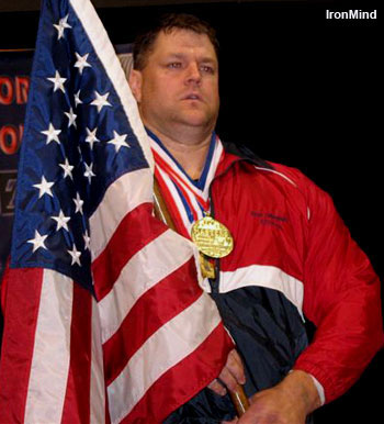 Brad Gillingham (USA) won the 2006 IPF Masters World Championships, and based on his recent lifts, despite his long and already illustrious career, the best may yet be on its way. IronMind® | Photo courtesy of Brad Gillingham.