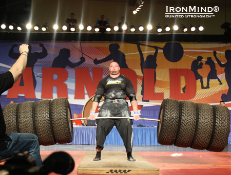 Brian Shaw was injured at the Arnold, forcing him to pull out of the World's Strongest Man Experience.  IronMind® | Photo courtesy of United Strongmen™.