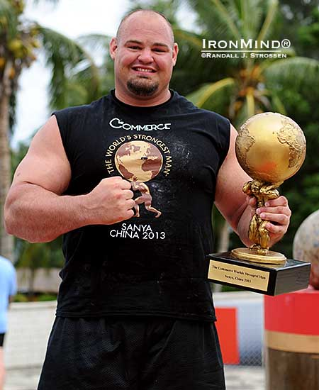 Brian Shaw won the 2013 Commerce World's Strongest Man contest today.  IronMind® | Randall J. Strossen photo  Final places: