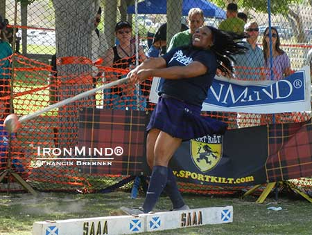 Brittany Pryor has been tipped as a potential world champion in the Highland games heavy events.  IronMind® | ©Francis Brebner photo