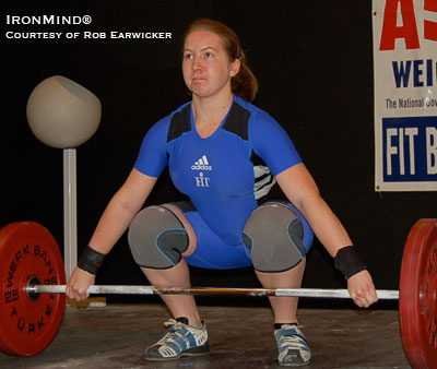 FIT Barbell Club's Kate Corbin, 2007 School Age champion and runner-up at the 2008 Junior Nationals, will one of the lifters you'll see at the upcoming NorCal Open. IronMind® | Photo courtesy of Rob Earwicker.