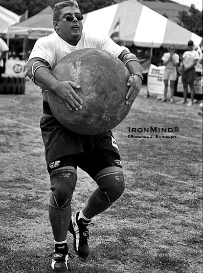"Chad Coy on the ""infamous . . . Ohana Hotels Medley Race"" at Odd Haugen's 2000 Beauty and the Beast Strongman competition, a top drawer strongman contest that also featured the inaugural Rolling Thunder® World Championships (with a field that included three World's Strongest Man winners, plus another one watching).  IronMind® 
