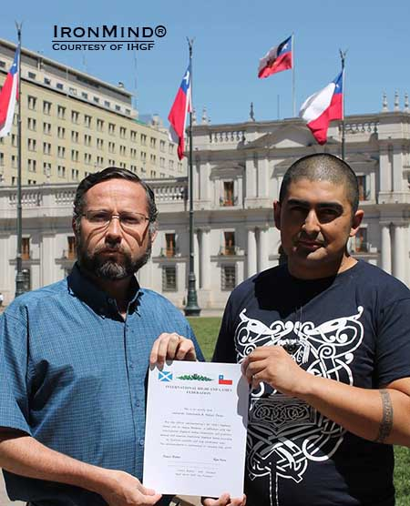 "Chile is the latest IHGF affiliate: Leonardo Valenzuela and Nelson Perez will spearhead efforts to promote ""the Highland Games and its athletes.""  IronMind® 