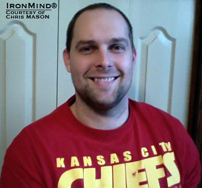 Who's a Kansas City Chiefs fan?  Meet Chris Mason—just certified on the Red Nail.  IronMind® | Courtesy of Chris Mason.