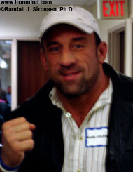 Mark Coleman, an OSU wrestling star who has gone on to become a mixed martial arts headliner, attended the 2006 Arnold Chairperson meeting today in Columbus, Ohio. IronMind® | Randall J. Strossen, Ph.D. photo.