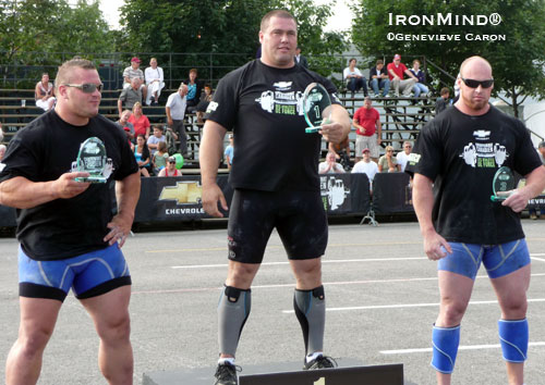 Christian Savoie made big news in strongman today when he won the 2009 Canada's Strongest Man contest.  IronMind® | Photo by Geneviève Caron.