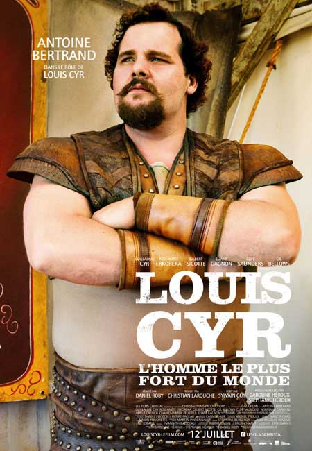 Antoine Bertrand played Louis Cyr in the award winning movie Louis Cyr: L'Homme Le Plus Fort Du Monde.  IronMind® | Image courtesy of Seville Films