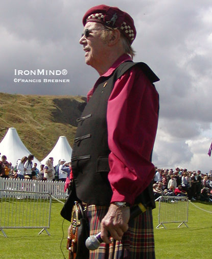 David Webster, International Highland Games Federation (IHGF) president, is organizing a top-flight series of Highland Games competitions.  IronMind® | Francis Brebner photo.