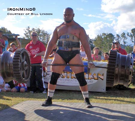 Derek Boyer swept through the Australia's Strongest Man contest this past weekend. IronMind® | Photo courtesy of Bill Lyndon.