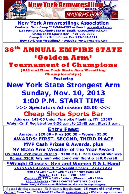 """Men and women come to grips in New York final showdown"" at Cheap Shots Sports Bar in Queens on November 10, 2013."