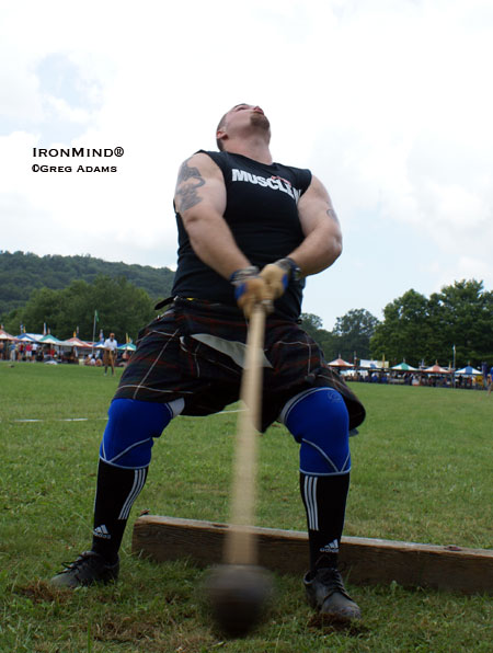 "He weighs 320 and he shrugs almost half a ton, but Grandfather Mountain Highland Games winner Eric Frasure told Francis Brebner that he wants to trim down a bit and ""work more on the hammers as I want to focus on the IHGF World Hammer Championships in Pleasanton . . . late in August."" IronMind® 