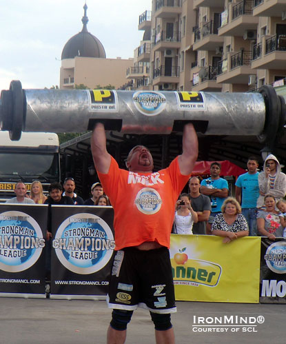 Last weekend, Bulgaria hosted the seventh SCL contest of the year, and Ervin Katona retained his overall lead in the biggest strongman series this year.  IronMind® | Courtesy of SCL.