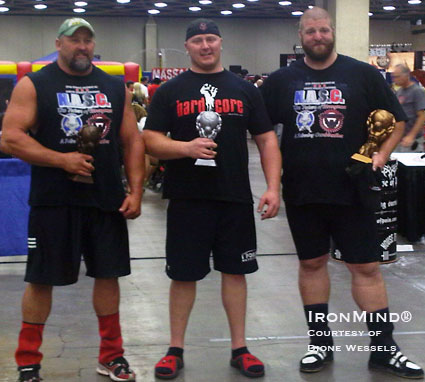 NAS Platinum Plus at the Europa (left to right): Rob Lewis, Ryan Bracewell, and Andrew Palmer.  IronMind® | Photo courtesy of Dione Wessels.