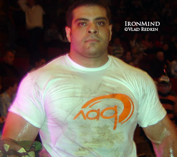 Farzad Mousakhani (Iran) won Vlad Redkin's recent strongman contest, and he is drawing a lot of attention. IronMind® | Photo courtesy of Vlad Redkin.