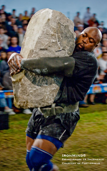Mark Felix, a crowd favorite at Fortissimus 2008, is joining the field in Fortissimus 2009, as well as being the man to beat at the IronMind® Rolling Thunder® World Championships.  IronMind® | Marc-Andre Torneaux photo, courtesy of Fortissimus World Strength.
