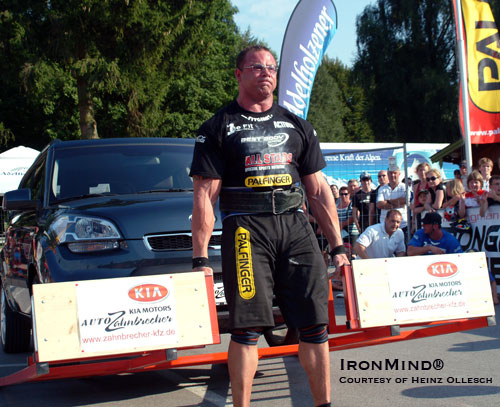 Florian Trimpl pulled out the victory in the closely-contested Germany's Strongest Man this past weekend.  IronMind® | Photo courtesy of Heinz Ollesch.