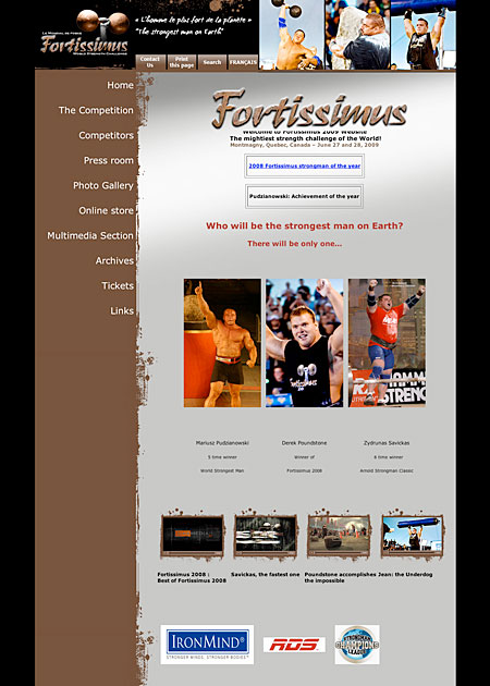 FORTISSIMUS 2009 - the website is live. Need we say more? IronMind® | Artwork courtesy of Fortissimus World Strength/Julie Payeur.