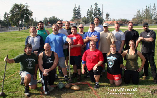 IHGF vice president Francis Brebner has begun a series of Highland Games seminars in Southern California, helping them prepare for this season's competitions.  IronMind® | Photo by Jaena Imboden.