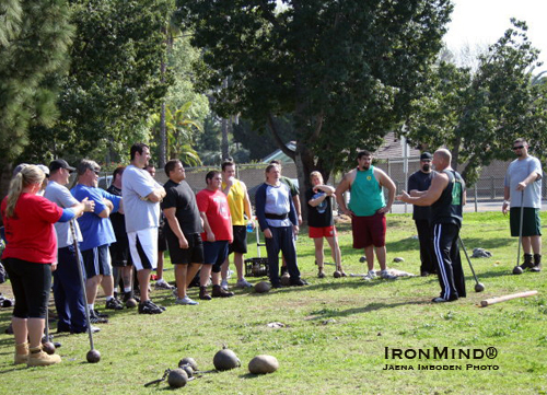 Playing with sticks and stones can be a lot of fun - Orange County, California hold its second IHGF clinic this weekend.  IronMind® | Jaena Imboden photo.