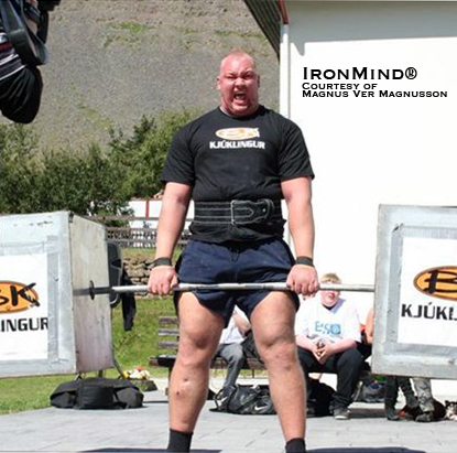 "Hafþór Júlíus Björnsson on the Silver Dollar Deadlift, as he won Iceland's Strongest Viking this weekend, and maybe even bigger: 4x World's Strongest Man winner Magnus Ver Magnusson said, ""I have never seen anybody learn this fast.""  IronMind® 