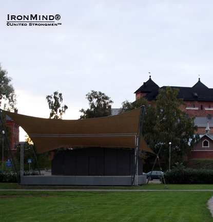 "Hämeen Linna park: ""where the happening takes place"" . . .  Highland Games, a grip contest, Zumba and fun for children.  IronMind® 