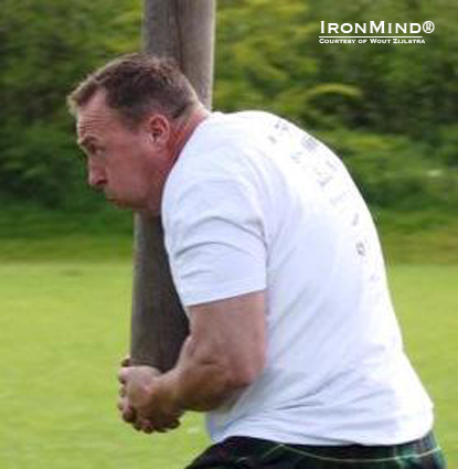 Hans Lolkema won the 2012 Winsum Highland Games.  IronMind® | Photo courtesy of Wout Zijlstra.
