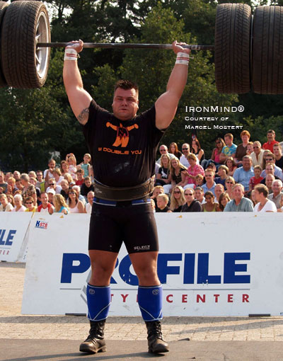 Jarno Hams (Holland) has just been added to the field for FORTISSIMUS 2009. IronMind® | Photo courtesy of Marcel Mostert, Strongman Champions League.