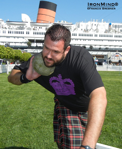 Jon O'Neil ruled the Amateur A division at the 2012 Queen Mary Highland Games.  IronMind® | Photo courtesy of Francis Brebner.