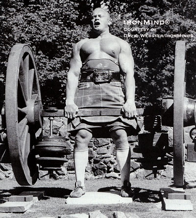 Jon Pall Sigmarsson's historic deadlift at Huntley Castle (Scotland) in 1987. Photo courtesy of David Webster/IronMind®, reproduced from Sons of Samson - Volume 2 with permission.