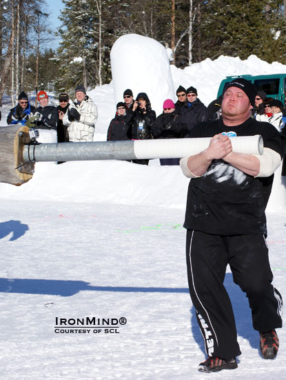 Juha Matti Jarvi banked some important points in the first Masku Finnish National Strongman Qualifier this past weekend.  IronMind® | File photo courtesy of SCL.