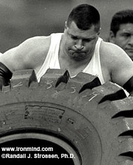 "Karl Gillingham, shown at the 1999 Beauty and the Beast competition (Honolulu, Hawaii), said that he's really looking forward to seeing all the guys again: ""This is a really special contest, with all those World's Strongest Man winners . . . plus, it's the opening chance to qualify for this year's World's Strongest Man contest."" Come to the Mohegan Sun on June 1 and you can meet Karl Gillingham in person. IronMind® 