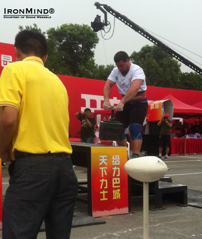 Ken Nowicki on the Power Stairs at the 2nd Annual Hercules Open (Bacheng, China).  IronMind® | Courtesy of Dione Wessels.