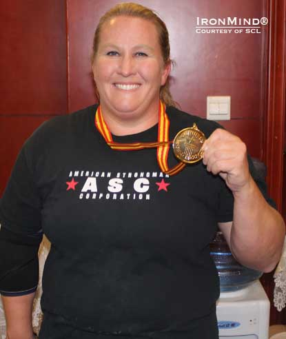 Strongwoman Kristen Rhodes is the proud owner of two new Guinness world records.  IronMind® | Photo courtesy of SCL.
