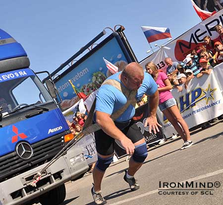 Lauri Nami won the MHP Strongman Champions League competition in  Kosice, Slovakia this weekend—the first time the Estonian strongman has won an SCL stage.  IronMind® | Courtesy of SCL