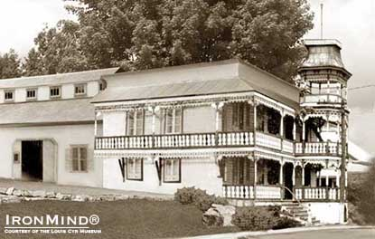 The Louis Cyr residence (shown circa 1903) will be restored and become the Louis Cyr Museum.  IronMind® | Image courtesy of the Louis Cyr Museum.