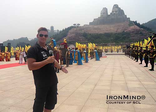 Marcel Mostert presents the spectacular staging for the SCL team competition recently held in China.  IronMind® | Photo courtesy of SCL.