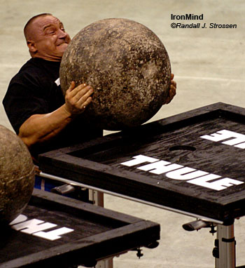 World's Strongest Man winner Mariusz Pudzianowski was huge hit at the 2006 WSMSS Mohegan Sun Grand Prix, and WSMSS Tour Director Jesper Albanson said that fans can expect top strongman talent again this year. IronMind® | Randall J. Strossen, Ph.D. photo.