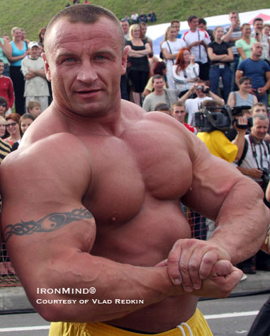 Bill Kazmaier has said that strongman is lucky that Mariusz Pudzianowski didn't decide to be a bodybuilder instead. IronMind® | Photo courtesy of Vlad Redkin.