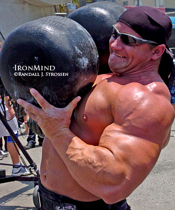 Mariusz Pudzianowski is picking his shots, and he won't be competing in the 2009 Arnold strongman contest. IronMind® | Randall J. Strossen photo.